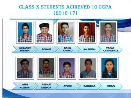 CLASS-X STUDENTS ACHIEVED 10 CGPA (2016-17)