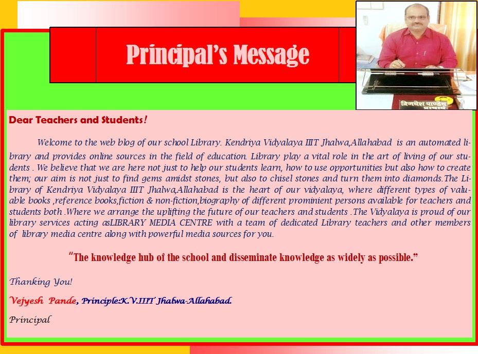 princple message new
