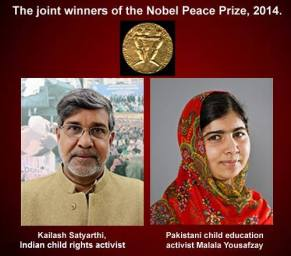 NOBEL PEACE PRIZE WINNER 2014