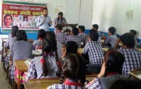 Hindi PGT Mr K.K.YADAV and Rupal Narayan of Class-Xth