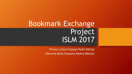 Bookmark Exchange Project 2017-1